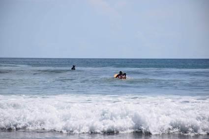 San Juan del Sur surfing paddle out