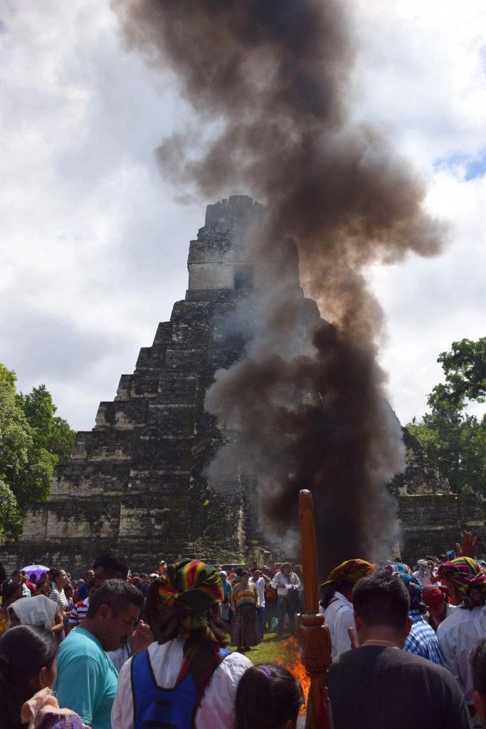 indigenous celebration at tikal