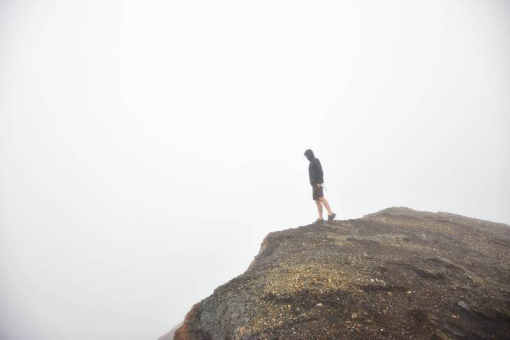 The top of the santa ana volcano hike