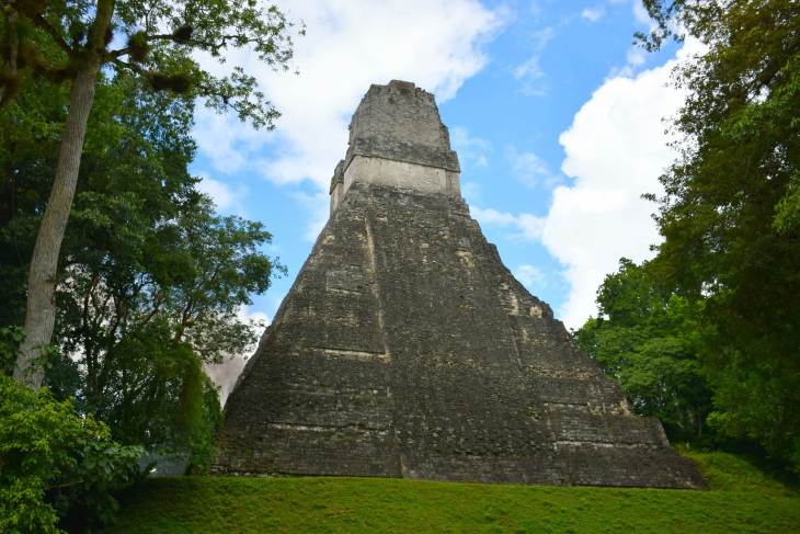 one of the main temples at tikal