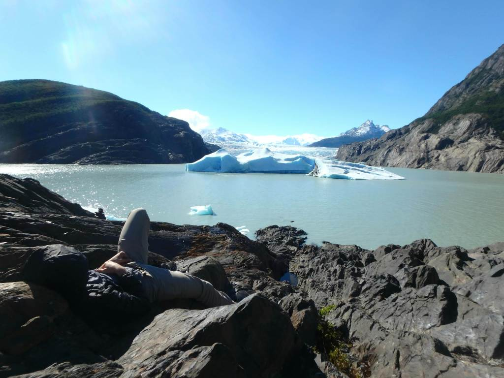 relaxing in the torres del paine