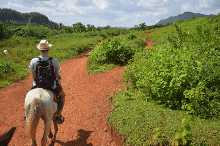 A ride through the countryside in Vinales