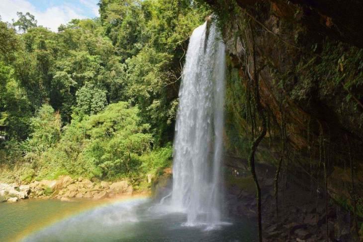 mishol ha waterfall near palenque
