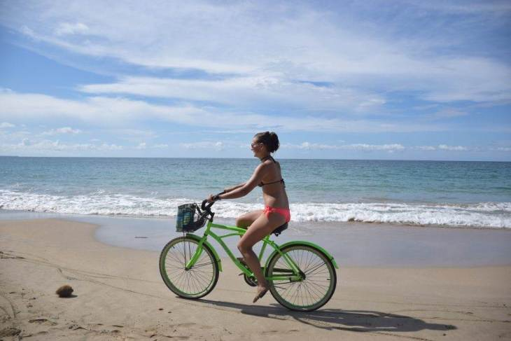 riding a bike in puerto viejo