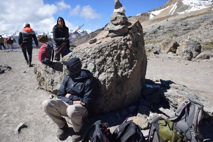 Altitude sickness while hiking in Peru
