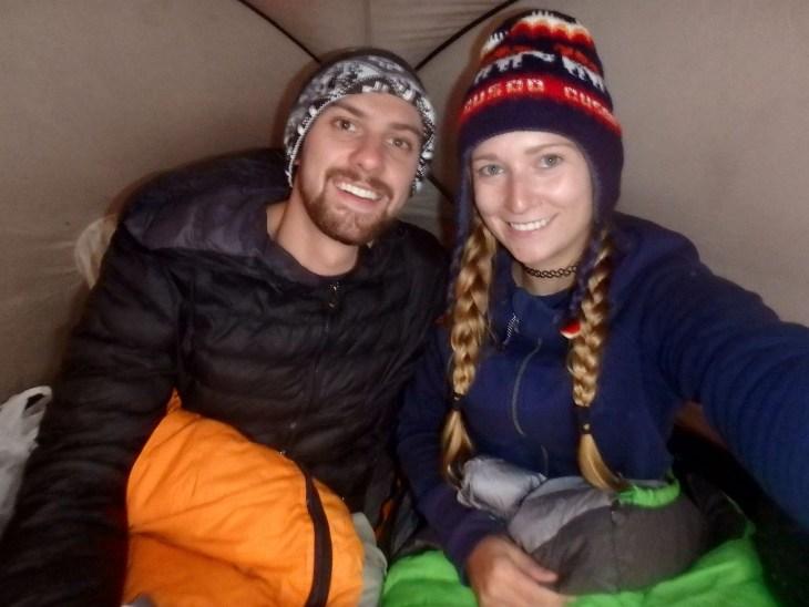 it gets cold hiking in Peru