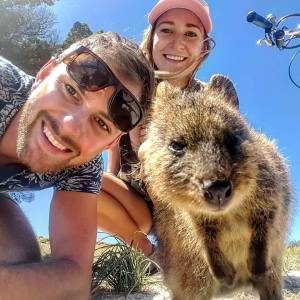 Selfie with a quokka is a on the things to do in perth list