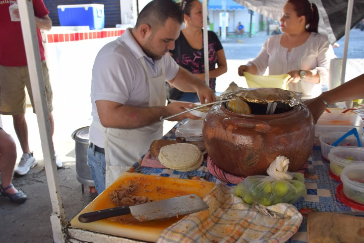An authentic Mexican taco street stand