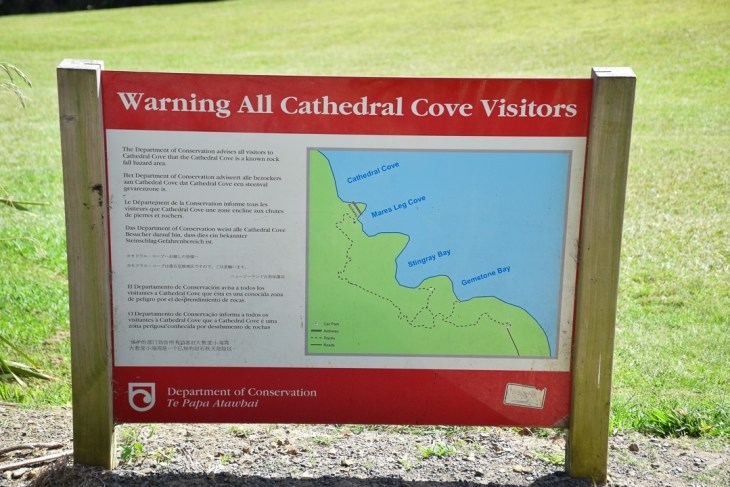 a map of the walk to cathedral cove