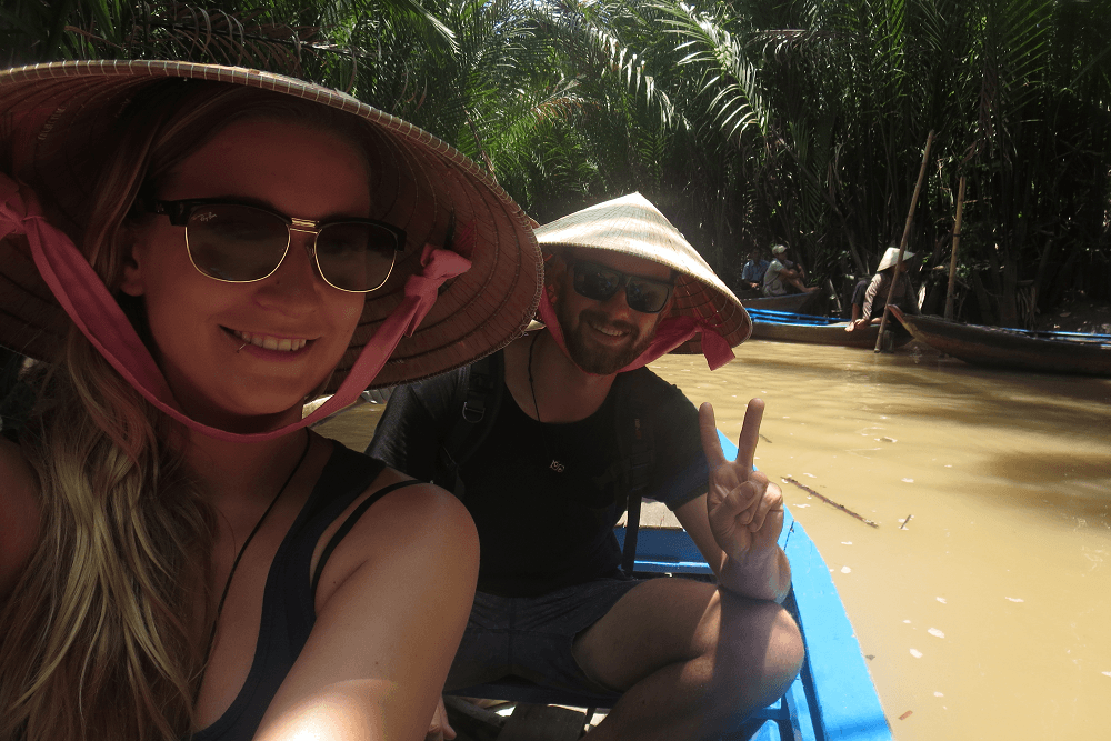 boat on the mekong delta