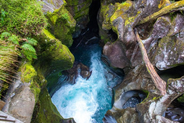 the chasm on your way to Milford Sound from Ten Anau!