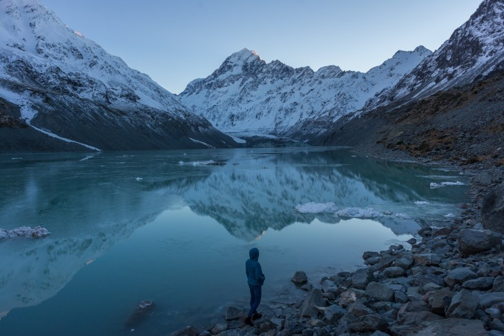 the end of the hooker valley trail