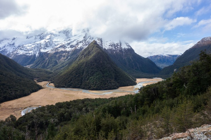 The views on the Routeburn track in New Zealand