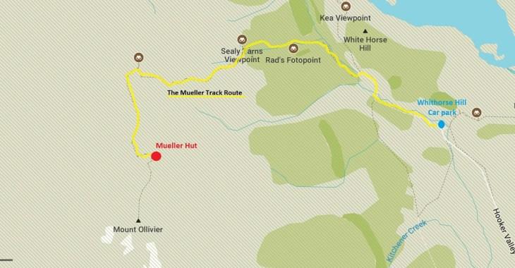 mueller hut route map
