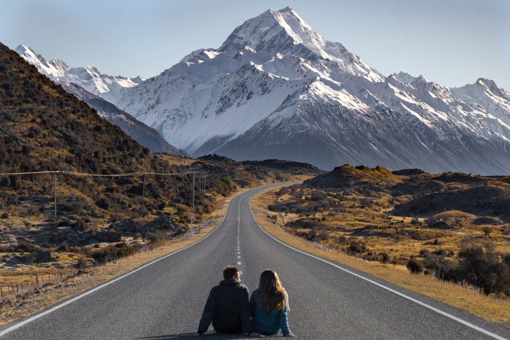 the famous road to mount cook photo