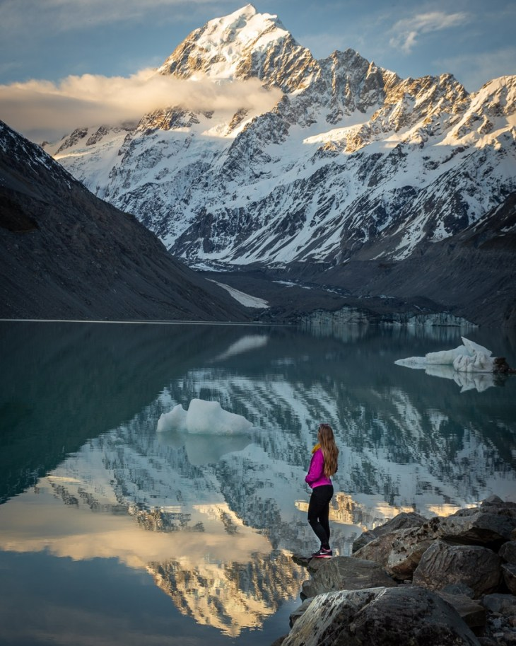 the hooker valley track is a great place to take photos