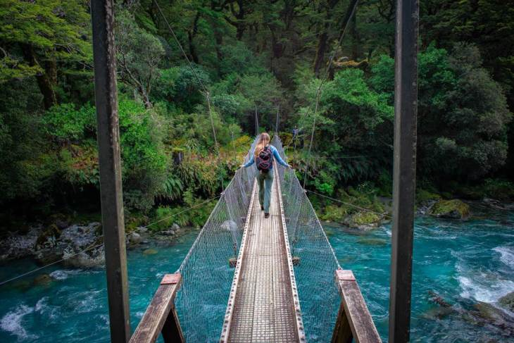 the lake marian suspension bridge