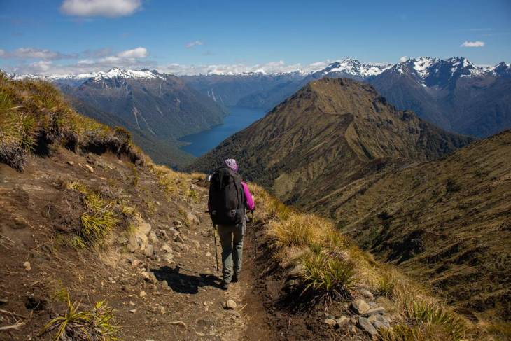 The views on day two of the kepler track one of New Zealand's great walks