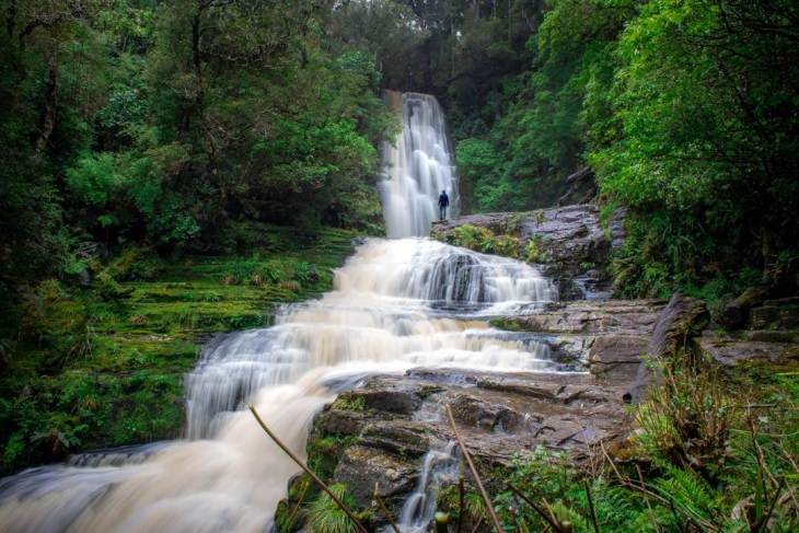 Mclean Falls the largest waterwall in the Ctalins, The Catlins Waterfalls
