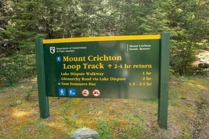 Mount Crichton Loop track