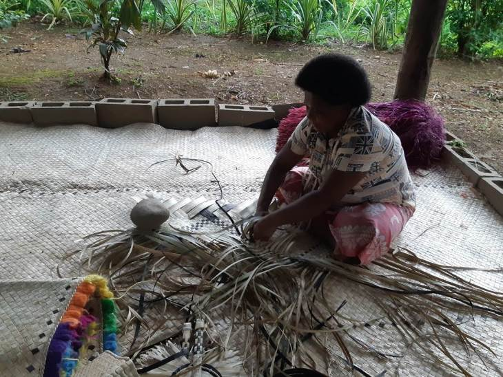a weaving demonstration