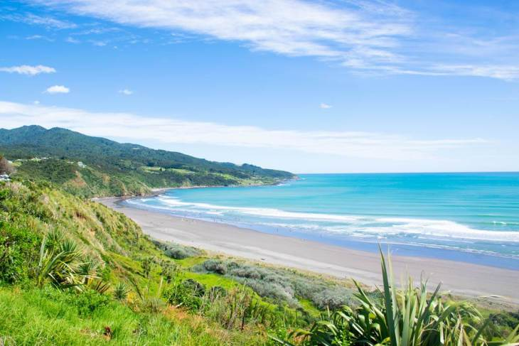 Raglan is one of the best beaches in New Zealand's north island