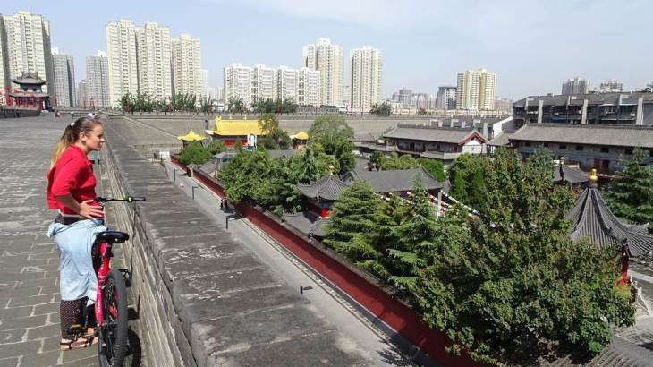Xi'an wall. Old and New