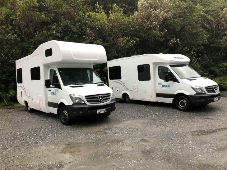 Camervan rental in New Zealand examples of 4 birth campers
