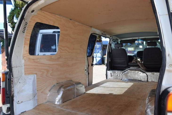 installing a window in our campervan conversion