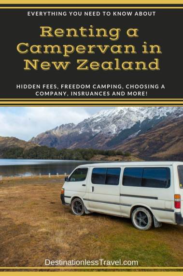 renting a campervan in new zealand pin