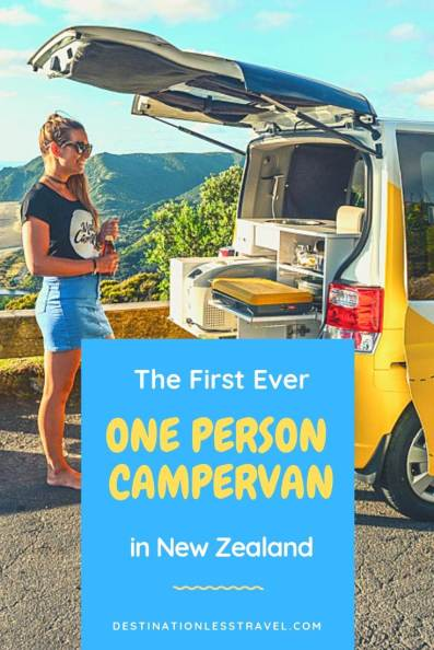 one person campervan new zealand pin