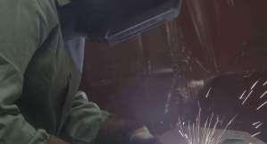 Alyssa welding at Jotul