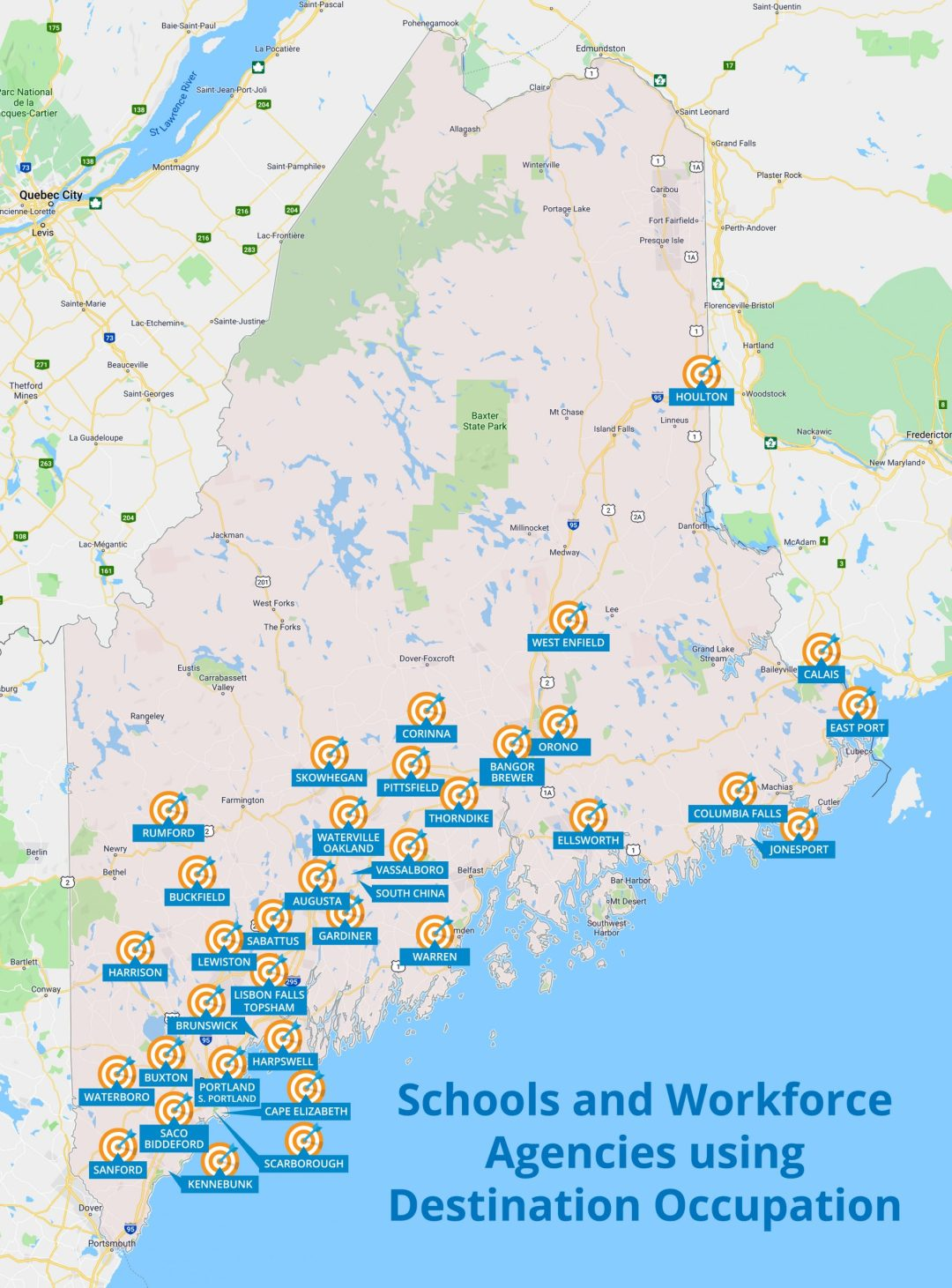 Map of schools using DO