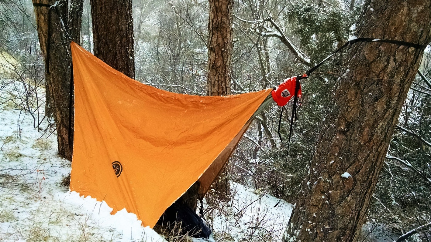 31 - day 5 - hammock in snow