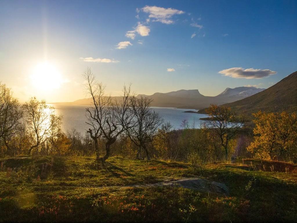 fjord Laponie en automne
