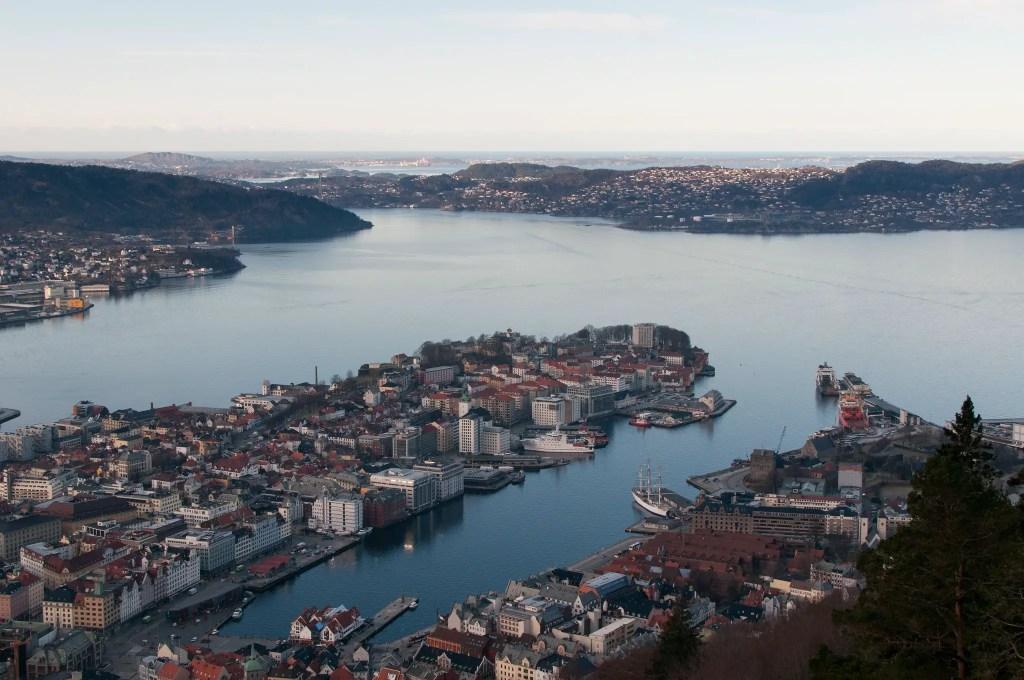 Mont Floyen à Bergen en Norvège