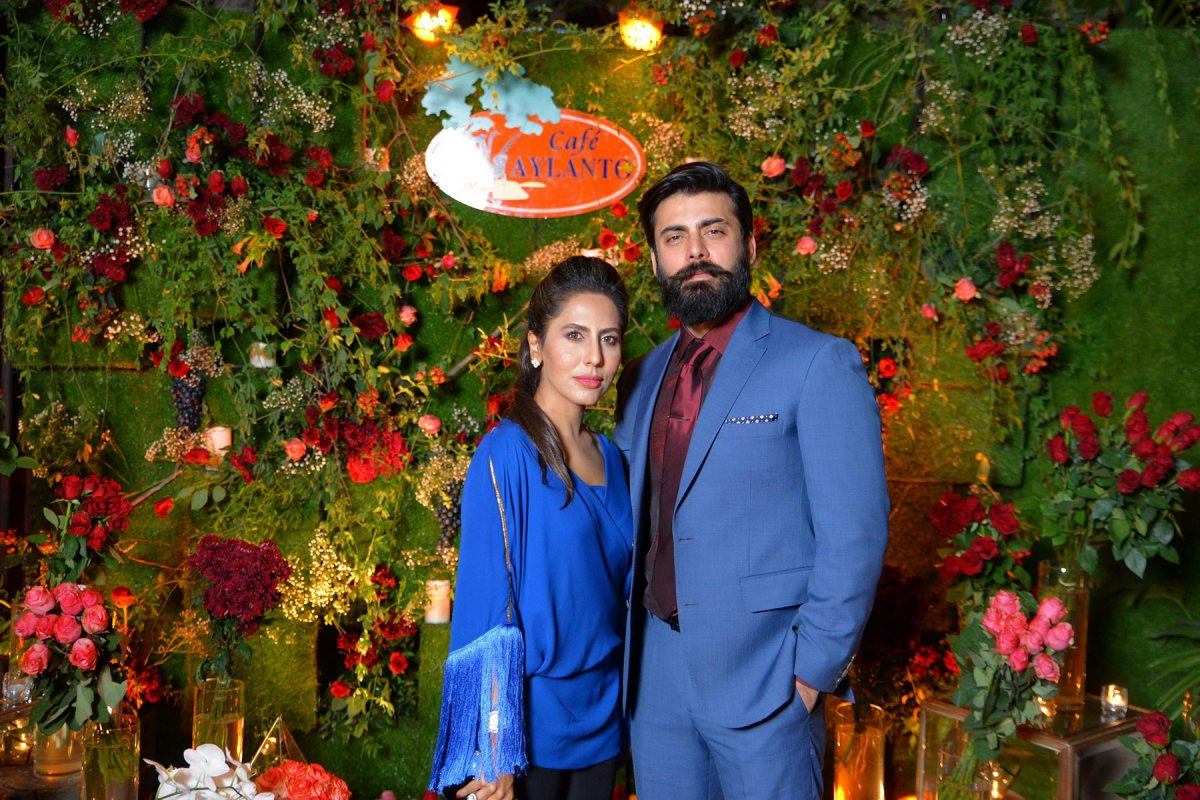 Sobia Nazir and Fawad Khan at Café Aylanto