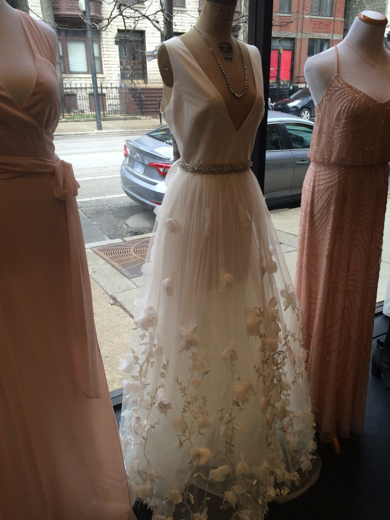 That beaded pink dress on the right is under $300 and is absolutely gorgeous. With all the beading work I thought I was going to have sticker shock. Great job ladies!