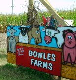 Bowles Farms are known for their fun, quirky signs and roadside decorations.