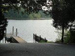 Canoes, kayaks, and motor boats can use this boat launch at St. Mary's River State Park.