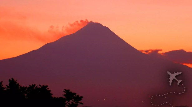 Mount Merapi at sunrise
