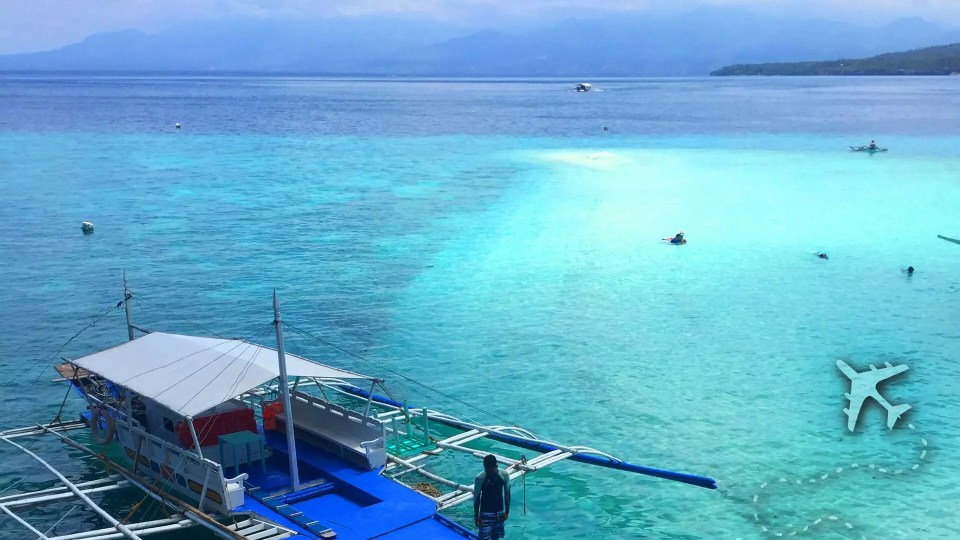 Similon Island Sand Bar in the Philippines