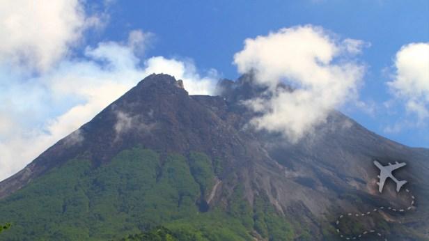 Merapi Volcano summit in Central Java
