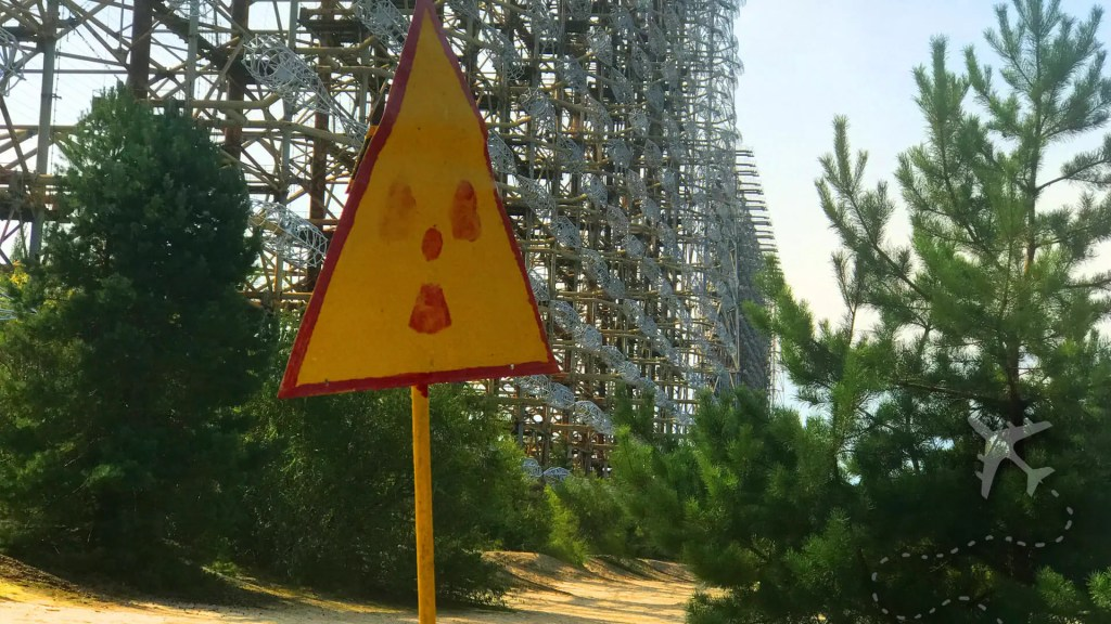 Duga-1 radiation marker with array in background