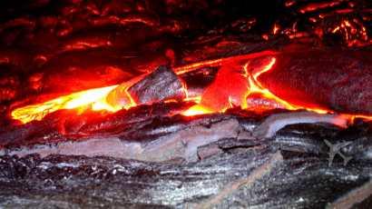The Big Island lava field