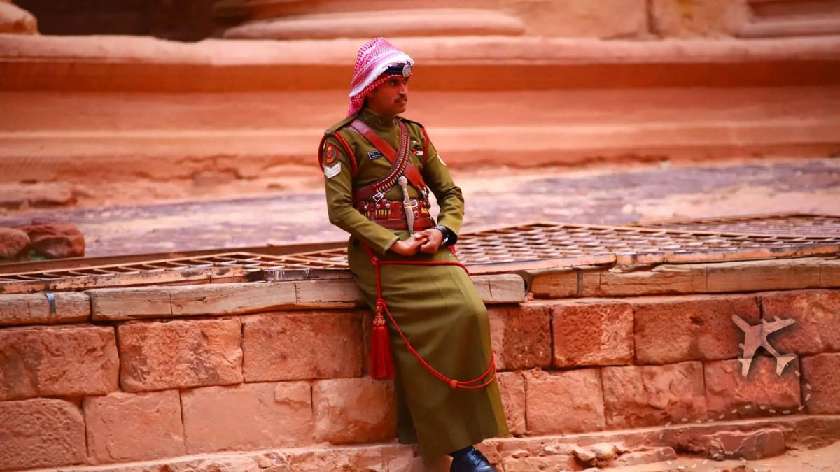 Guard protecting Al-Khazneh (The Treasury)