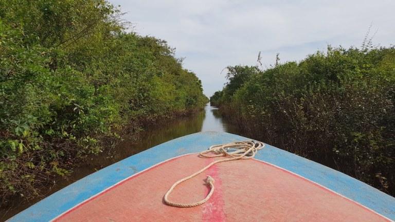 bateau trajet Battambang Siem Reap