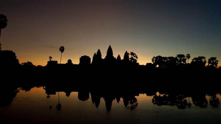 Lever du soleil Angkor Vat
