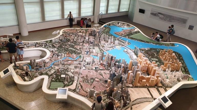 Maquette du Singapour de demain à la Singapore City Gallery Singapour