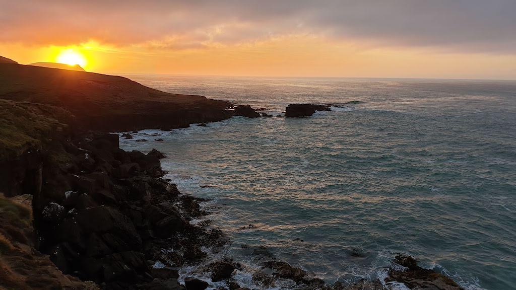 lever du soleil à Slope Point Catlins